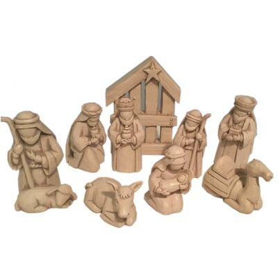 The Holiday Aisle 9 Piece Nativity Set