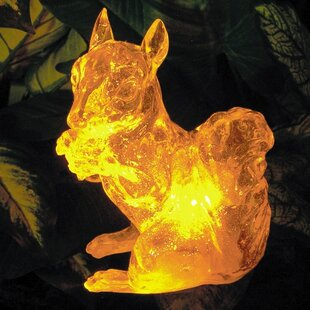 Solar Squirrel With Color Change Lighting by Homebrite Solar