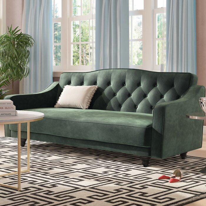 Awe Inspiring Magruder Tufted Sleeper Sofa Machost Co Dining Chair Design Ideas Machostcouk