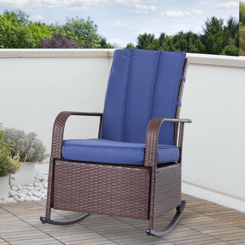 Latitude Run Philadelphia Recliner Patio Chair With Cushions Reviews Wayfair