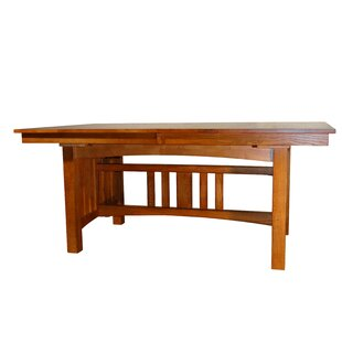 Taj Solid Oak Mission Solid Wood Dining Table Loon Peak