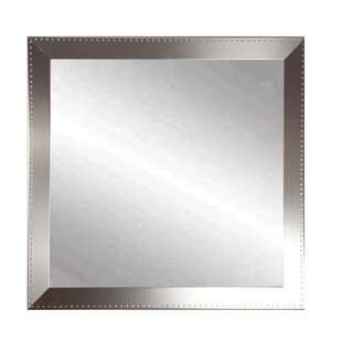 Find Embossed Steel Square Wall Mirror By Brandt Works LLC