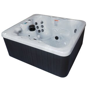 Key West Dura Shell 5-Person 42-Jet Plug And Play Hot Tub With Starburst LED Light By QCA Spas