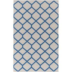Murphree Ivory & Blue Area Rug