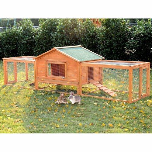 Kaninchenstall Dylan mit Rampe und Auslauf | Garten > Tiermöbel > Hasenställe-Kaninchenställe | Archie & Oscar