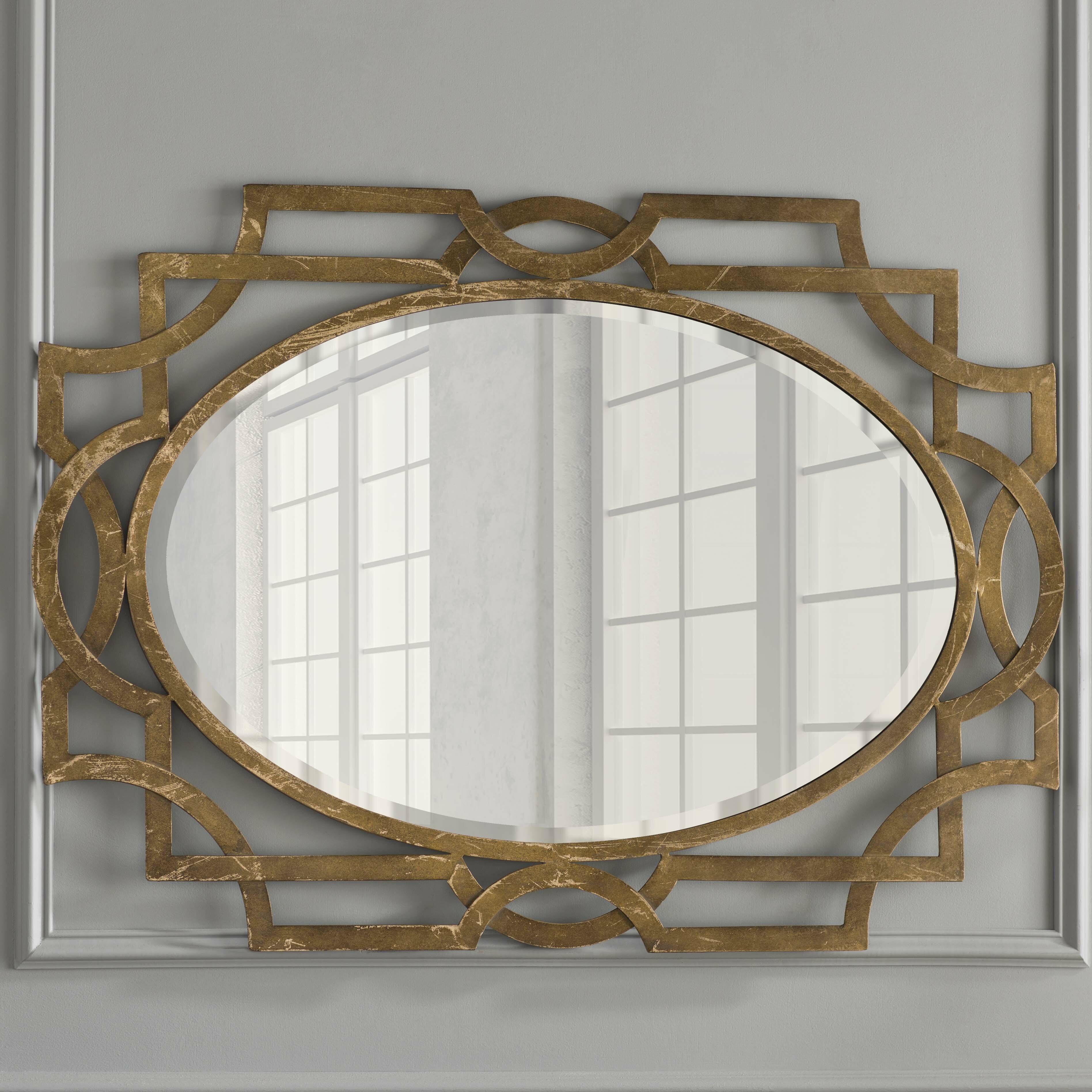 Willa Arlo Interiors Gold Oval Accent Mirror Reviews Wayfair Co Uk