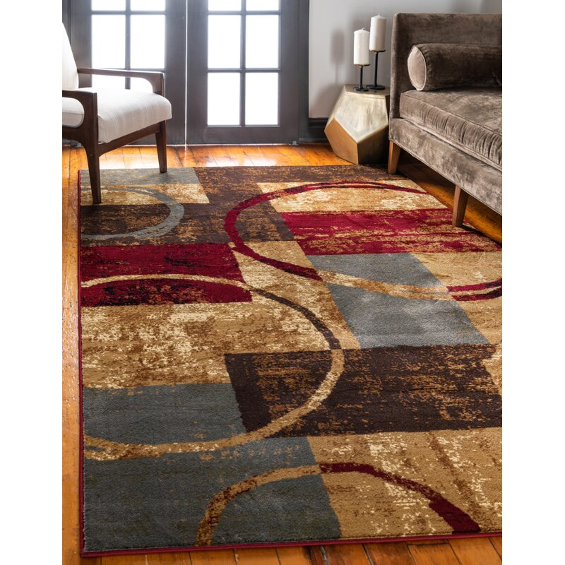 Andover Mills Mclea Abstract Brown Gray Area Rug Reviews Wayfair