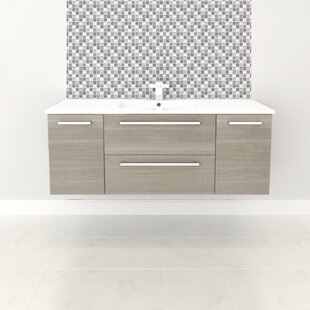 Silhouette 48 Wall-Mounted Single Bathroom Vanity Set By Cutler Kitchen & Bath