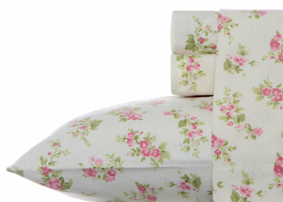 Audrey Flannel Sheet Set by Laura Ashley