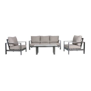 Lepage 4 Piece Sofa Seating Group with Cushions