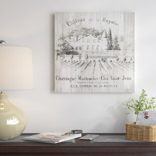 'Chateau Royalle on Wood' Vintage Advertisement on Canvas By East Urban Home