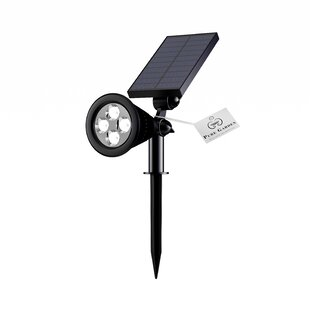 Solar Powered Outdoor 4 Light LED Flood/Spot Light (Set of 2) by Pure Garden