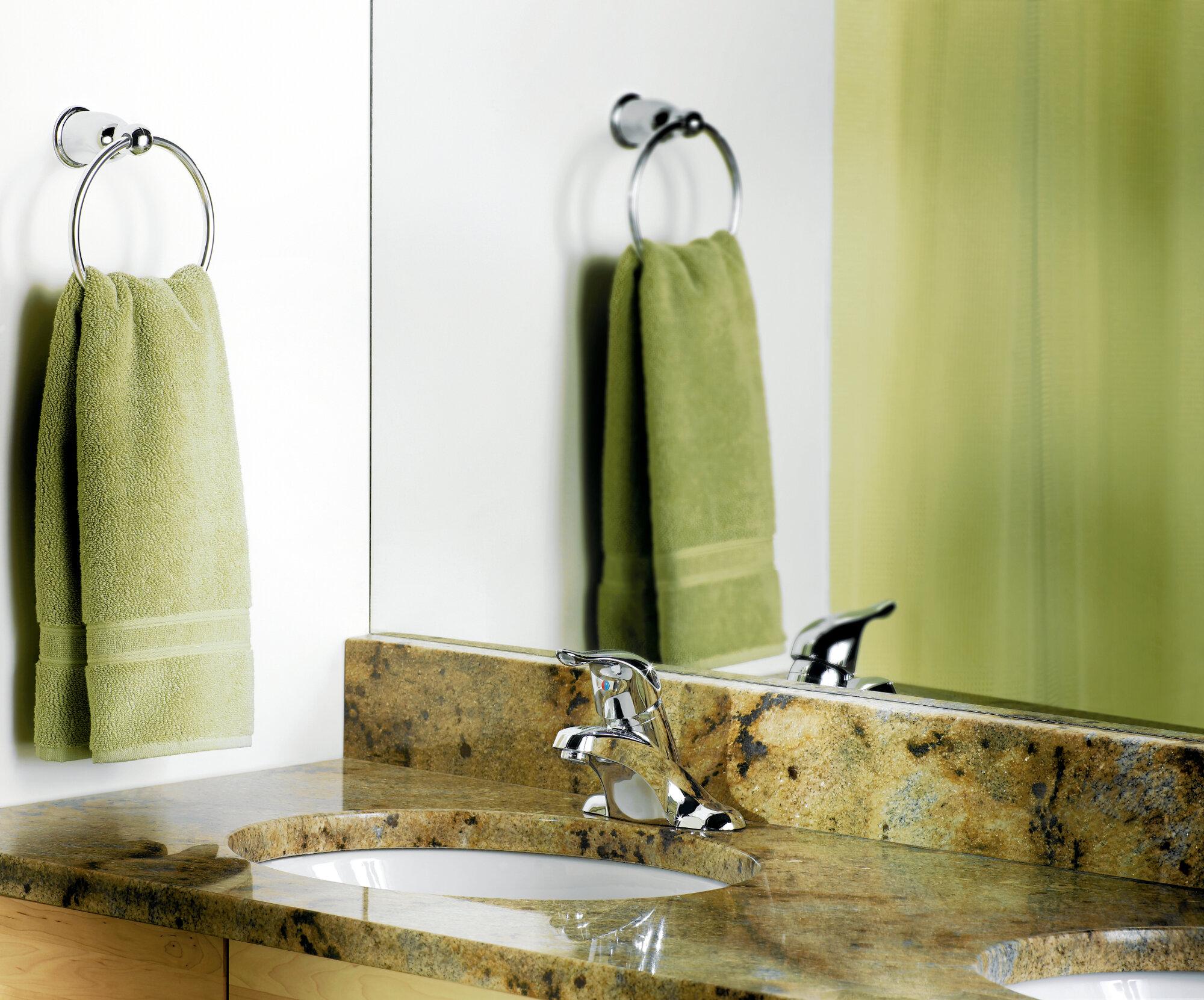 Yb8086ch Sn Owb Moen Mason Wall Mounted Towel Ring Reviews Wayfair