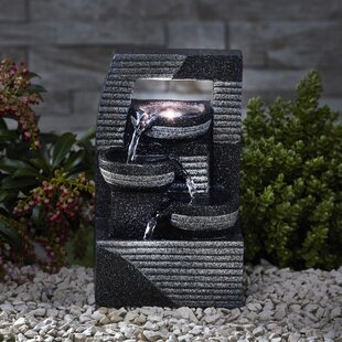 Tollefson Polystone Fountain With LED Light By Sol 72 Outdoor