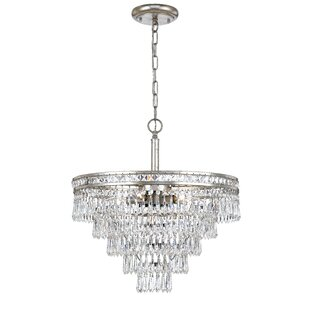 Astoria Grand Markenfield 6-Light Crystal Chandelier