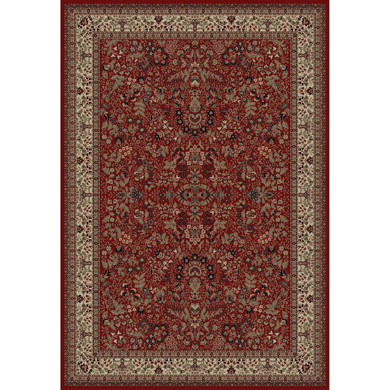 Persian Clics Oriental Sarouk Red Area Rug