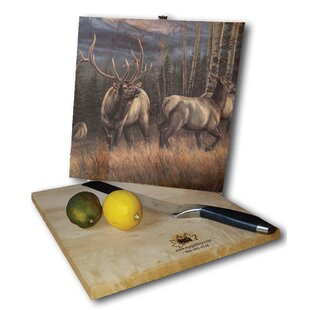Back Country Elk 12 x 12 Cutting Board By WGI-GALLERY