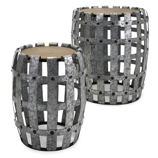 Victor Galvanized 2 Piece End Tables by Laurel Foundry Modern Farmhouse