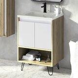 Asbury 24 Wall-Mounted Single Bathroom Vanity Set by Corrigan Studio®