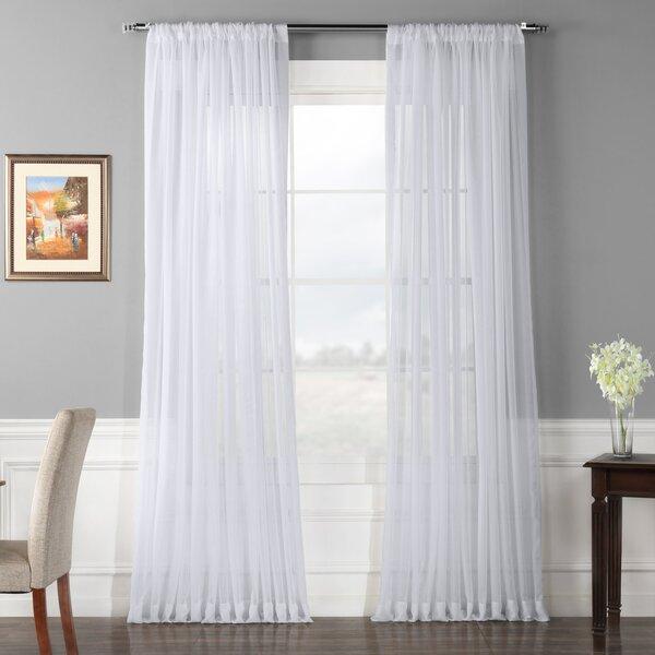 double wide sheer curtains wayfair rh wayfair com