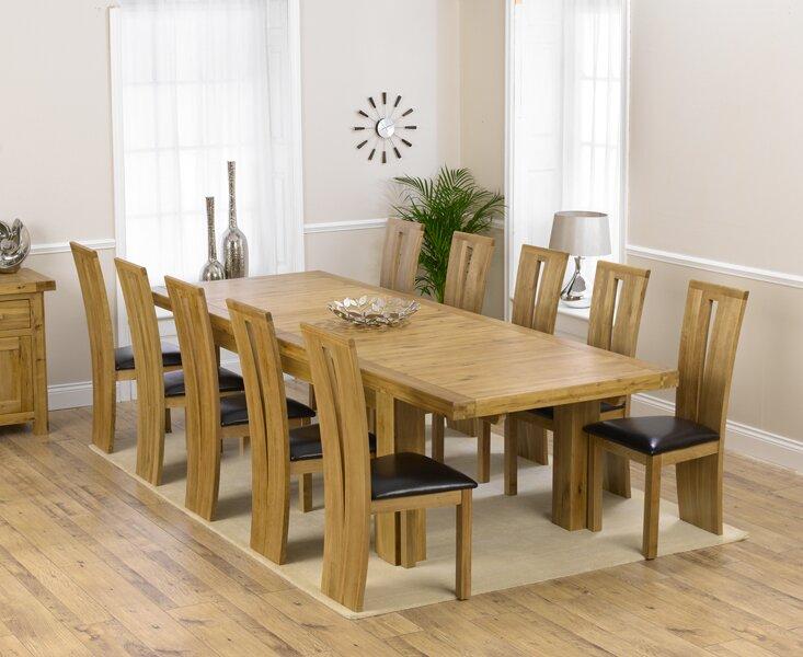 home etc essgruppe patricia mit ausziehbarem tisch und 10 st hlen. Black Bedroom Furniture Sets. Home Design Ideas