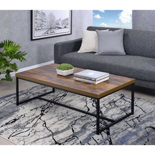 Devia Metal Framed Coffee Table by Union Rustic