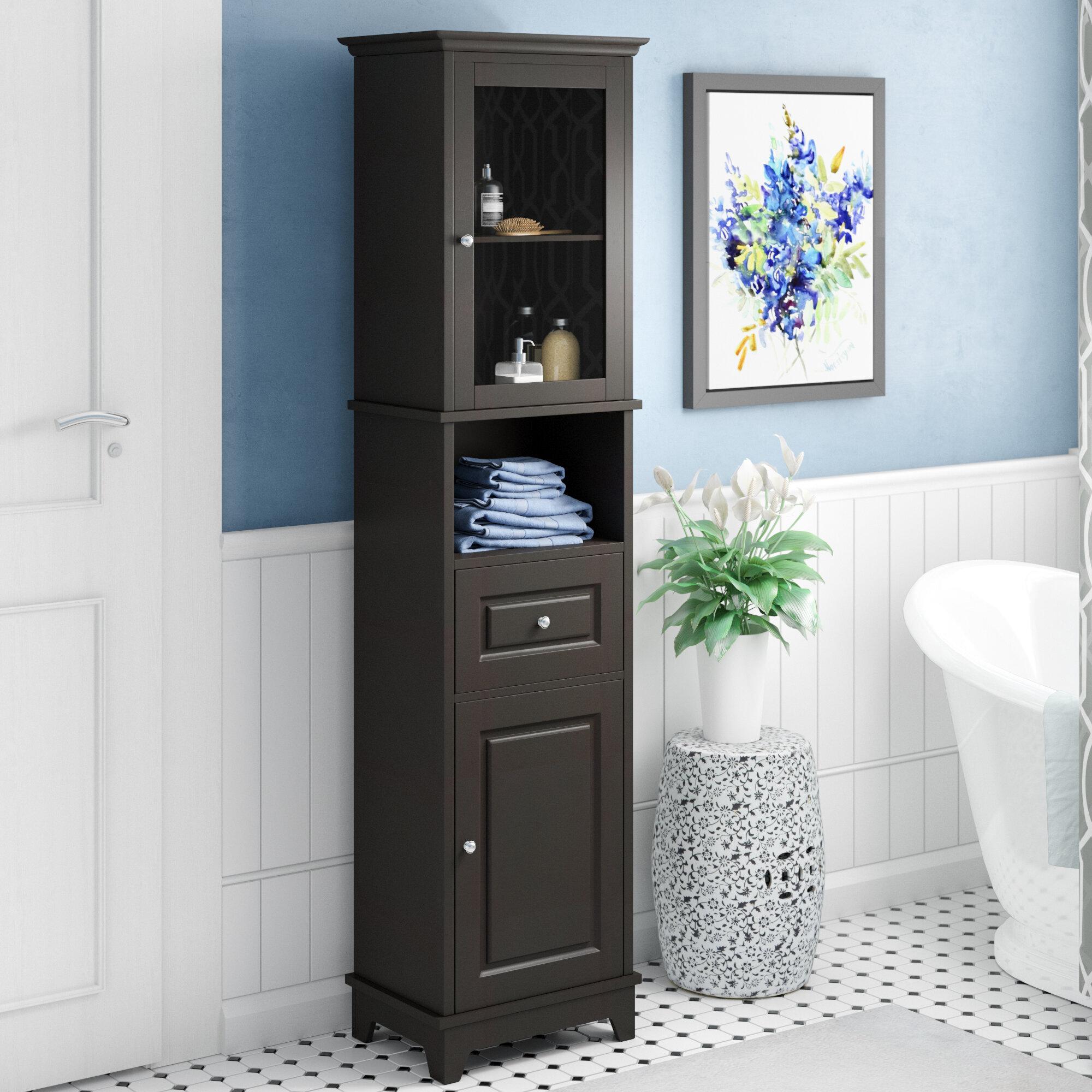 Bathroom Linen Tower | Three Posts New Paltz 18 11 X 70 87 Linen Tower Reviews Wayfair