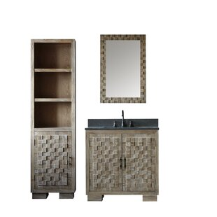 Cheval Solid Elm 36 Single Bathroom Vanity Set with Mirror by Bay Isle Home