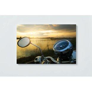 Motorcycle Motif Magnetic Wall Mounted Cork Board By Ebern Designs