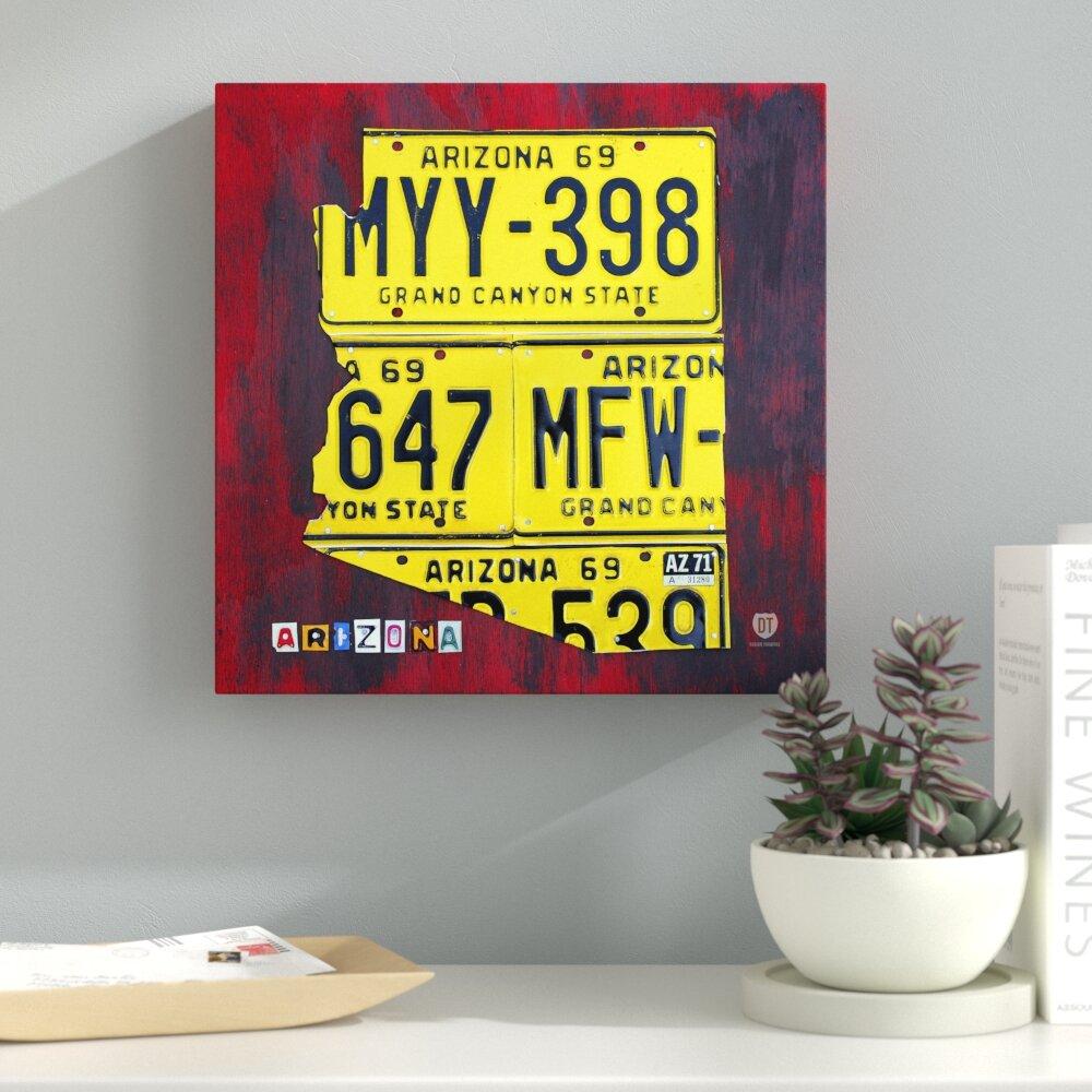 Latitude Run Arizona License Plate by Design Turnpike Graphic Art on ...