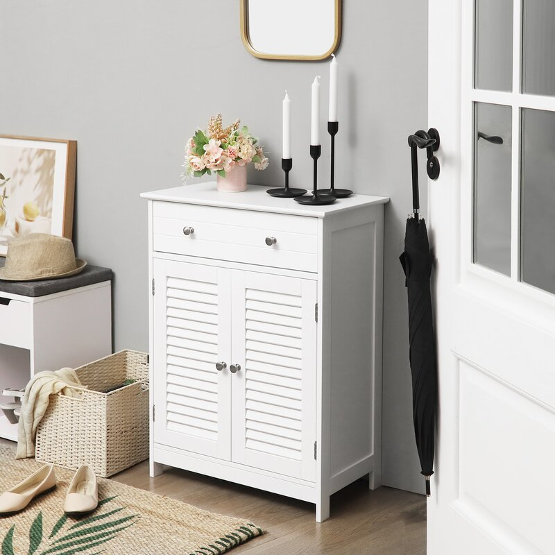Rosecliff Heights Alcesta 23 6 W X 31 5 H X 11 8 D Free Standing Bathroom Cabinet Wayfair