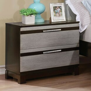 Orren Ellis Belton 2 Drawer Nightstand