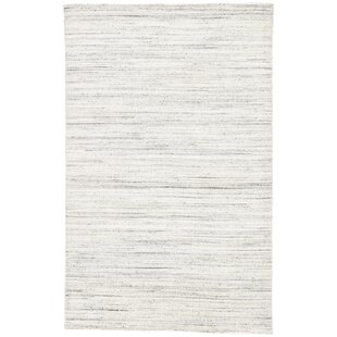 Affordable Price Schmit Hand-Woven Wool Blanc De Blanc/Smoked Pearl Area Rug By Orren Ellis