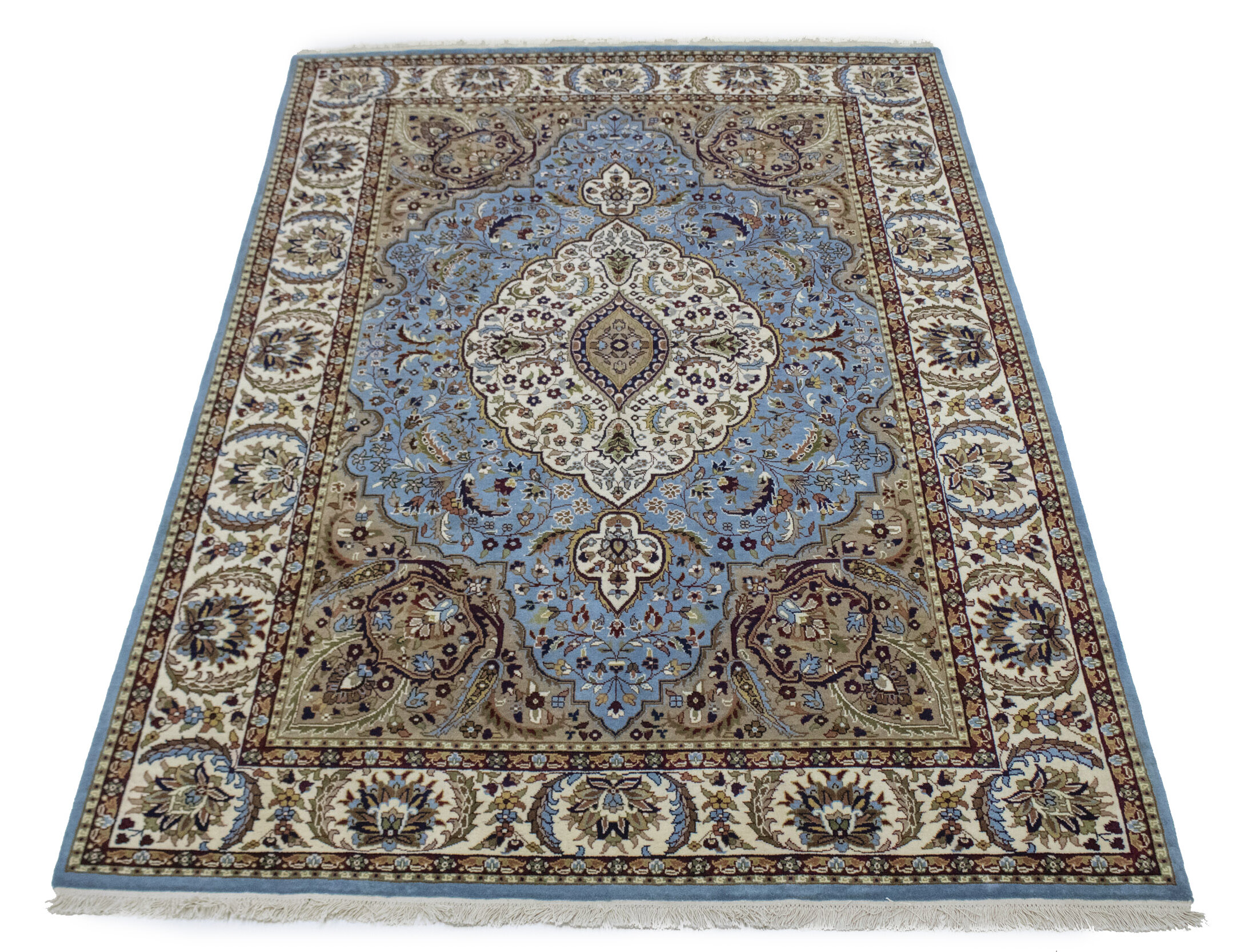 Charlton Home Lyly Floral Wool Blue Area Rug Wayfair
