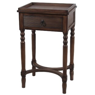 Brook Lane End Table with Drawer by Alcott Hill