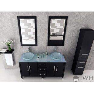 Order Sirius 59 Double Bathroom Vanity Set ByJWH Living