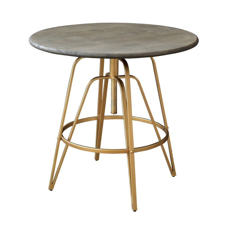 Everly Quinn  Savoy Adjustable Pub Table