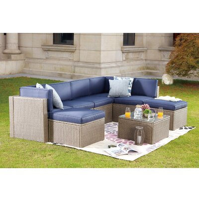 Magnificent Gracie Oaks 8 Piece Sectional Set With Cushions Cushion Dailytribune Chair Design For Home Dailytribuneorg