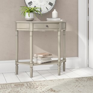 Almont Half Moon Single Drawer Console Table By Three Posts