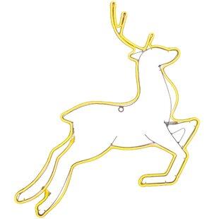 360 Warm White Christmas Reindeer Neon Rope Light By The Seasonal Aisle