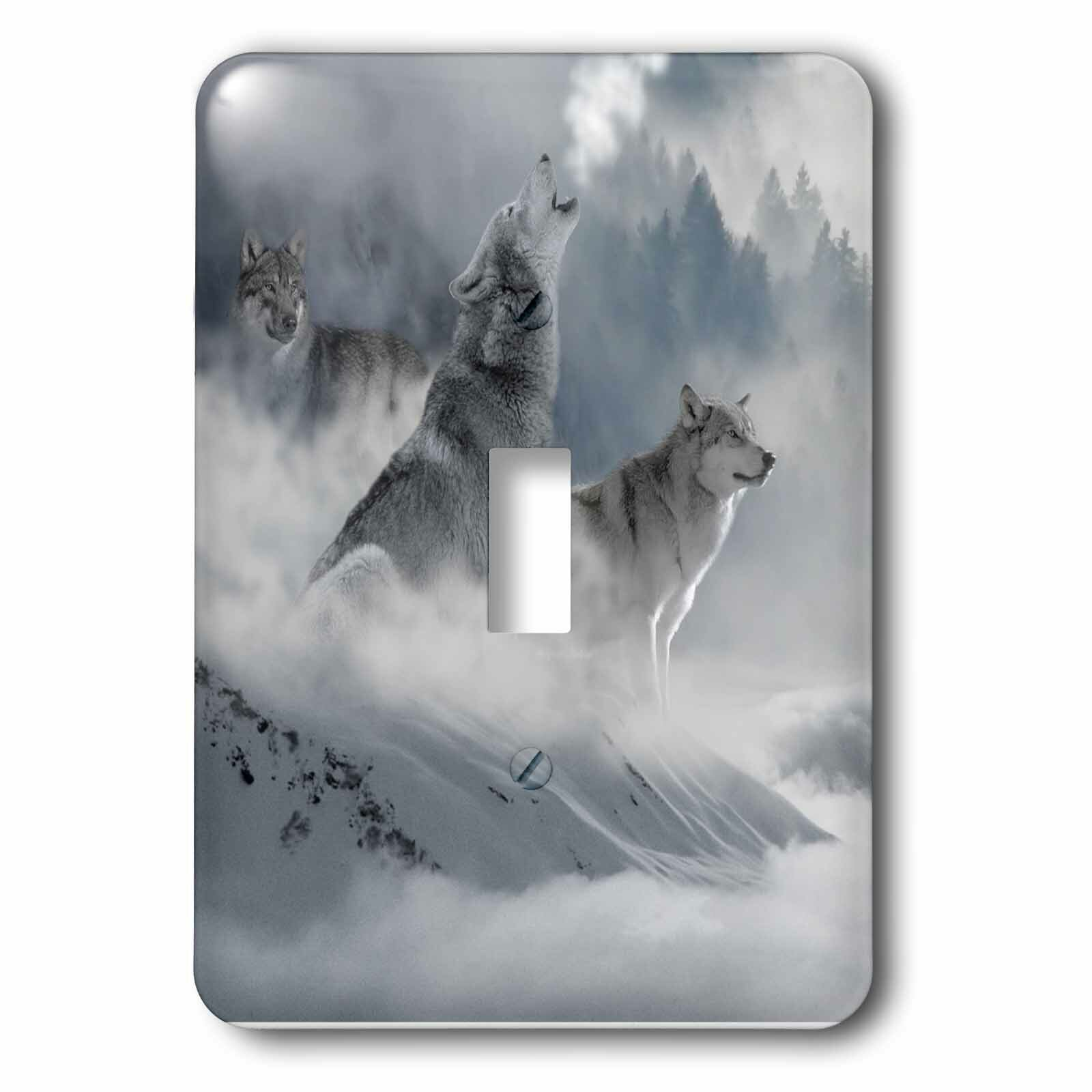 3drose Fantasy Wolves 1 Gang Toggle Light Switch Wall Plate Wayfair