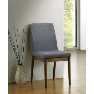 Hecker Mid Century Modern Upholstered Dining Chair (Set of 2)