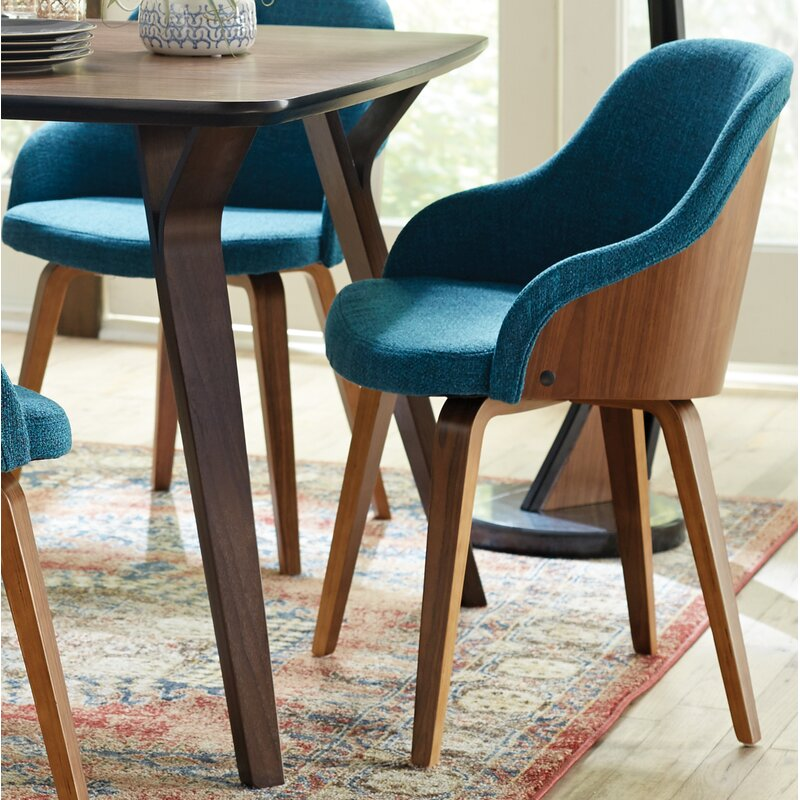 Brighton Mid Century Modern Upholstered Dining Chair Reviews Allmodern