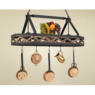 Shopping for Sonoma 8 Sided Hanging Pot Rack with 2 Lights By Hi-Lite