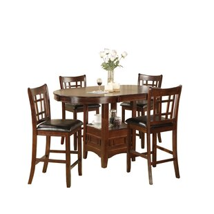 Hazelwood Home Counter Height Dinette 5 Piece Set