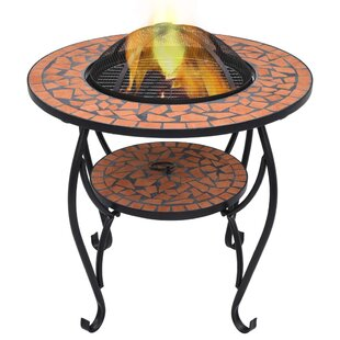 Esmeyer Steel Charcoal And Wood Burning Fire Pit By World Menagerie