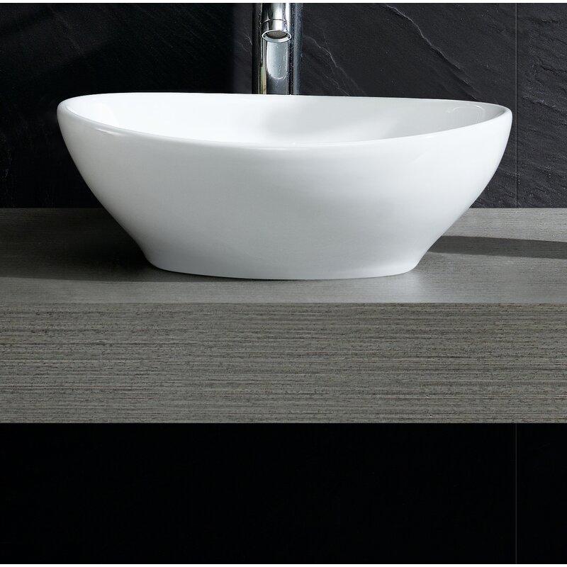 Fine Fixtures Modern Oval Vessel Bathroom Sink & Reviews