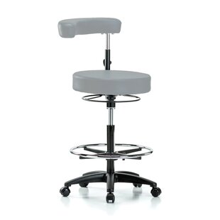 Height Adjustable Dental Stool with Procedure Arm and Foot Ring