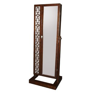 Darby Home Co Critchfield Cheval Jewelry Armoire with Mirror