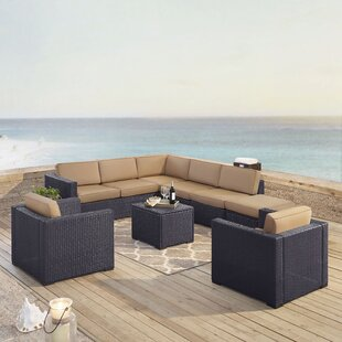 Highland Dunes Dinah 7 Piece Sectional Set with Cushions